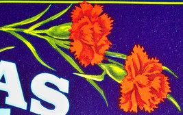 Red Carnations! Arenas Crate Label, 1940s - $2.29