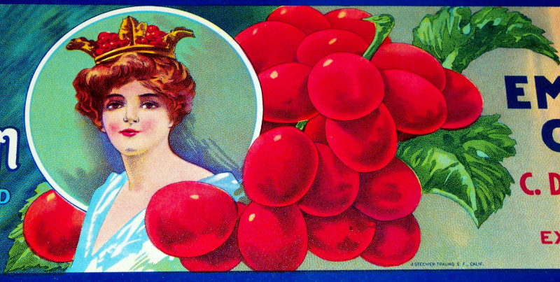 Classic Beauty! Valley Queen Crate Label, 1930s