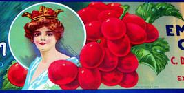 Classic Beauty! Valley Queen Crate Label, 1930s - $2.99