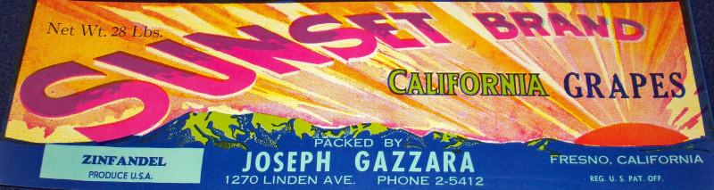 Sunset crate label 001