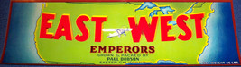 Early American East West Crate Label, 1940's - $2.99