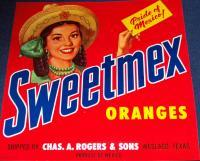 Pride of Mexico! Sweetmex Crate Label, 1940's