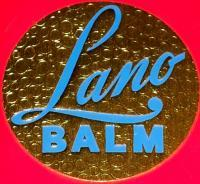 Gold Embossed! Lano Balm Label, 1940's, 4 oz.