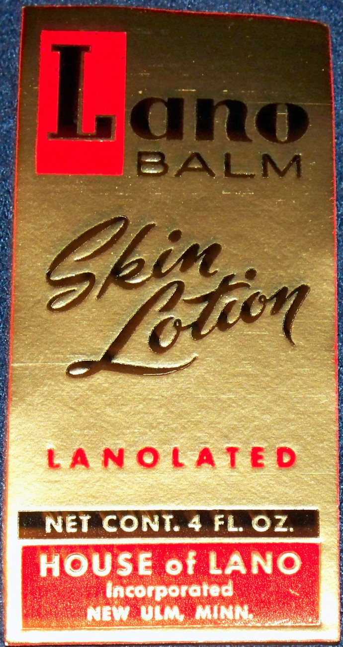 Different Version! Lano Balm Label, 1940's