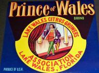 Noble! Prince of Wales Crate Label, 1930's