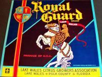 Armored Knight! Royal Guard Crate Label, 1930's