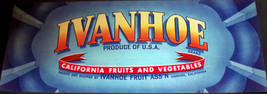 Limited! Ivanhoe Crate Label, 1940's - $9.99