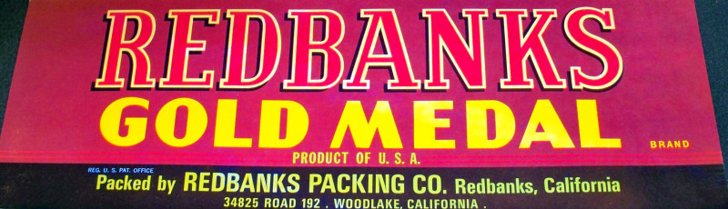 Gold medal crate label 001