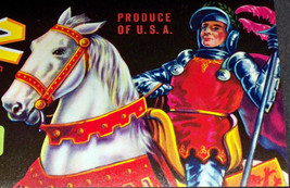 Knight in Shining Armor! Ivanhoe Crate Label, 1940's - $2.99