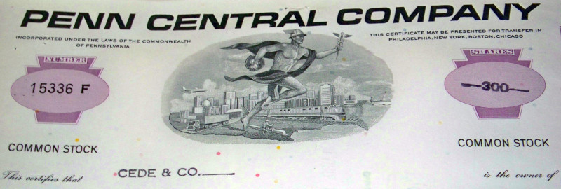 Penn central over 100 certificate 002