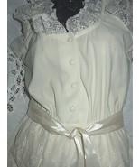 Fabulous SEXY & SWEET-Cream Lace Apron / Satin Ribbon 1970 - $148.75