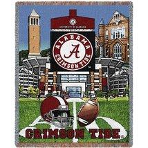 University Of Alabama Stadium Crimson Tide Stadium Tapestry Throw Blanket - $64.95