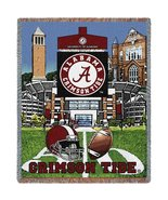 University Of Alabama Stadium Crimson Tide Stadium Tapestry Throw Blanket - $64.95