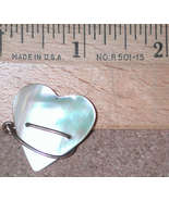 GF Wire Mother of Pearl carved Heart Pin Vintage MOP gold filled - $14.00