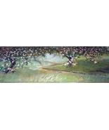 1885-APPLE BLOSSOMS-GORGEOUS-ORIGINAL ANTIQUE CHROMOLITHOGRA - $106.25