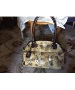 """ M.C. "" Mark Chantel CLASSY Brn Snake Fo Leather Shoulder Bag SATCHEL P... - $13.03"