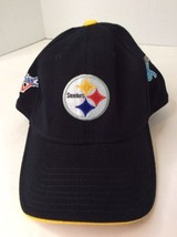 dd1900f8049 Reebok NFL Steelers Super Bowl 5x Champions Black Yellow One Size Flex Fit  Hat -  13.99