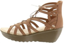 Skechers Lace-Up Wedges Terrace Tan 10M NEW A304810 - $45.52