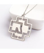 Germany Hip-Hop Rammstein Rock Band Necklace Silver Plated Hollow Pendan... - $5.47