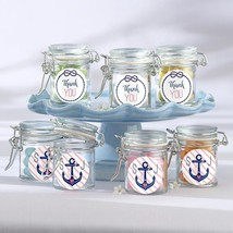Personalized Glass Favor Jars - Kates Nautical Bridal Shower Collection (Set of  - $25.99
