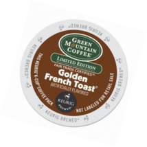 Coffee K Cups Green Mountain Limited Edition Golden French Toast 24 Ligh... - $33.57