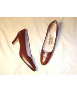 """""""Salvatore Ferragamo"""" brown leather shoe with l... - $39.99"""