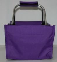 WB Brand Marketminipur Mini Purple Market Tote Padded Handle image 2