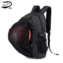 BDF Men backpack waterproof grey black USB school bag teenager student l... - $47.66