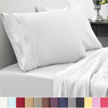 1500 Thread Count Bed Sheet Set Madam Marie Solid Color All Sizes - $15.29+