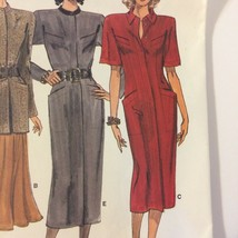 Vogue Pattern 1924 Column Dress Jacket & Flared Skirt Size 8-10-12 Uncut... - $10.00