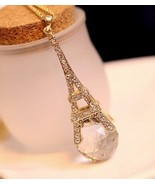 Eiffel Tower Exotic Fantasy Crystal Ball Necklace - $12.99