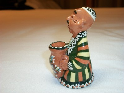 SOUVENIR UZBEKISTAN TOOTHPICK HOLDER NEW NWT NATIVE MAN