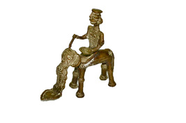 Statue Of Man Sit On an Elephant - $30.00