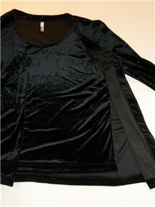 WOMEN WHITE STAG BLACK VELVET DRESS TOP SHIRT M MEDIUM