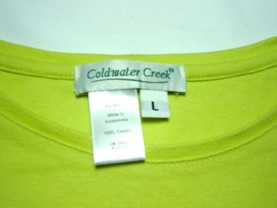 WOMEN CASUAL COLDWATER CREEK L LARGE TOP SHIRT