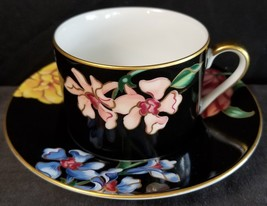 Fitz and Floyd Bariolage des Fleurs Cup and Saucer (multiple available) - $22.91