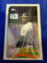 1989 LJN Topps Baseball Talk - #116 - Dave Parker - Athletics - MLB - $0.94