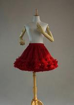 Burgundy Ballerina Tulle Skirt High Waisted Women Girl Ballet Skirt image 5