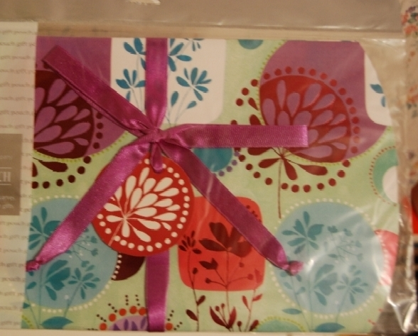 Gift Pouch-Multicolor Floral Block Design NEW