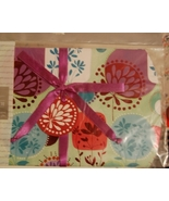 Gift Pouch-Multicolor Floral Block Design NEW - $3.00