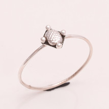 925 Sterling Silver Plain Silver Designer Ring 6.5 us Small Cute Ring r1830 - £5.76 GBP