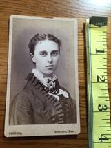 CDV Carte De Viste Pretty Young Lady by Burrell Mass. Dated 1875! - $6.00