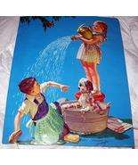 1948 R.JAMES STUART Vintage Print-DOGGONE YOU! Children Bath - $29.00