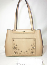 Michael Kors Meredith Butternut Leather Medium EW Bonded Tote Bag 30T8TK... - $144.53