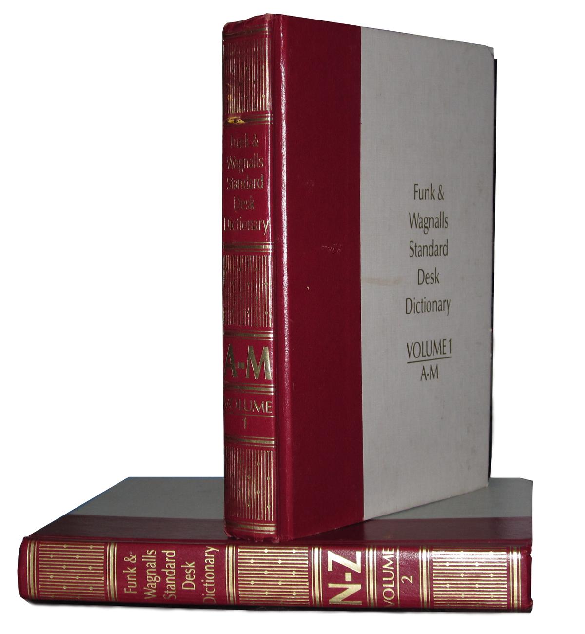 Funk & Wagnalls Standard Desk Dictionary Circa 1984