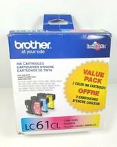 Brother Innobella LC61CL Ink Cartridges Cyan Yellow Magenta Brand New Op... - $26.95