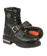 Milwaukee Leather Womens Classic Motorcycle Boots Lace-up Black 6M NEW - $111.25