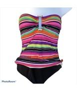 Lauren Ralph Lauren Strapless Rainbow Striped One Piece Women Size 10 - $28.71