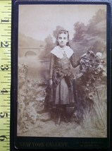 Cabinet Card Pretty Young Girl Studio Graphics! c.1866-80 - $6.40