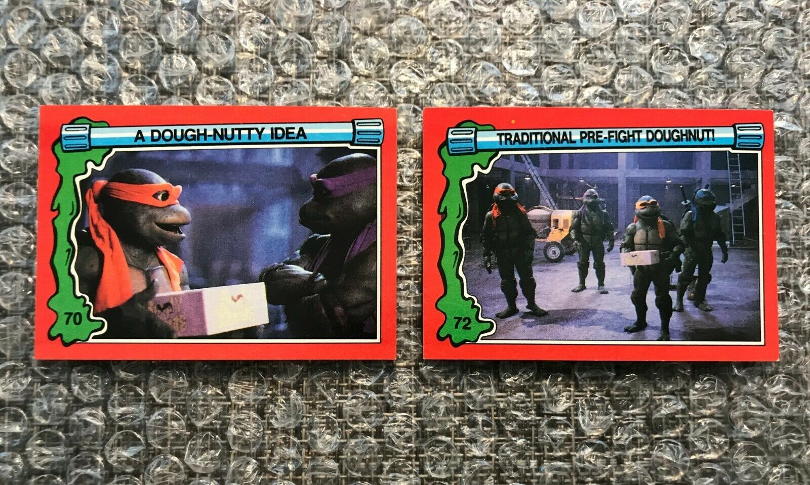 Primary image for 1991 Topps Teenage Mutant Ninja Turtles TMNT II Movie Cards Lot: #70 & #72